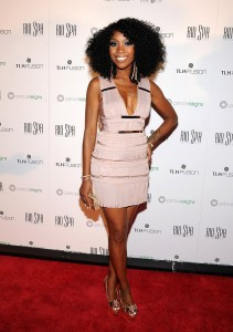 Singer Brandy stopped by the event to support her brother Ray J.