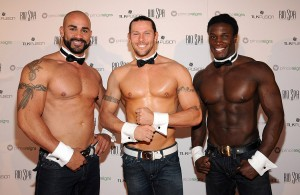 John Rivera, Jace Crispin and Chaun Thomas of the Chippendales supported the cause before their show at Rio.